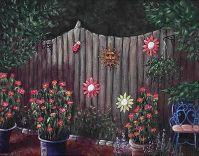 Ladybug Drawing - Summer Garden by Anastasiya Malakhova