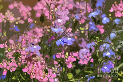 Abstract Forms Digital Art - Summer Garden by Carol Lynch