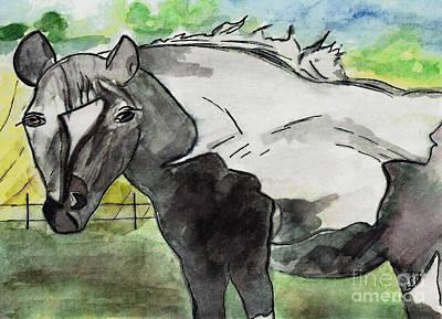 Southern Indiana Drawing - Summer Gaze by Elizabeth Briggs