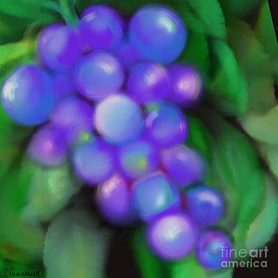 Purple Grapes Digital Art - Summer Grape by Christine Fournier