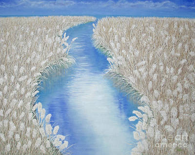 Reflections Painting - Summer Grass Plumes by Cindy Lee Longhini