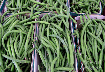 Summer Green Beans Print by Kathie McCurdy