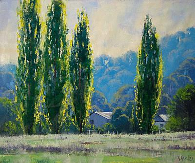 Gums Painting - Summer Greens by Graham Gercken