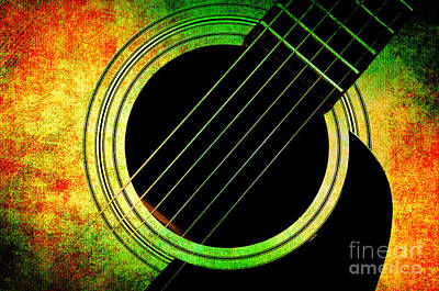 Music Photograph - Summer Guitar by Andee Design