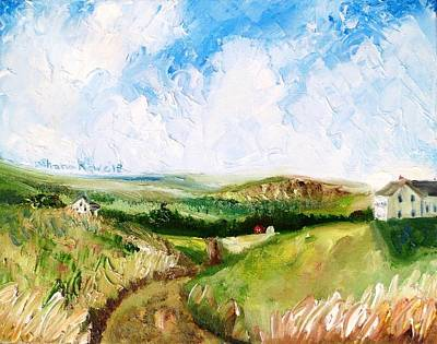 Maine Roads Painting - Summer In The Dale  by Shana Rowe Jackson
