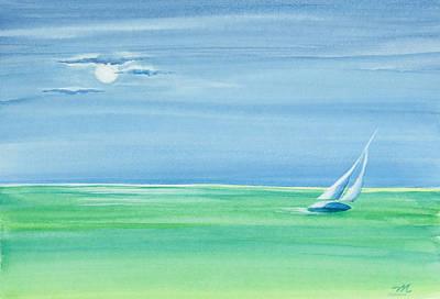 Summer Moonlight Sail Original by Michelle Wiarda