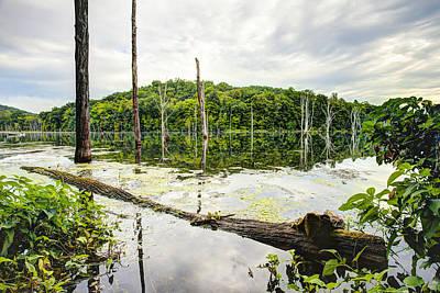 Summer Morning On Monksville Reservoir 1 Print by Gary Heller