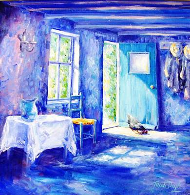 Kitchen Chair Painting - Summer Morning  by Trudi Doyle
