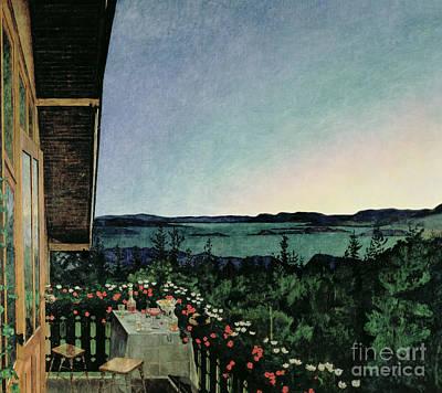 Dinner Painting - Summer Night by Harald Oscar Sohlberg