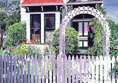 Garden Gates Painting - Summer Of 1927 by David Lloyd Glover