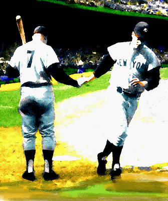 Summer Of The Gods  Iv 1961 Mickey Mantle Print by Iconic Images Art Gallery David Pucciarelli