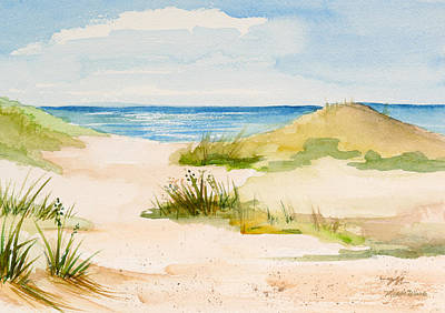 Sand Dunes Painting - Summer On Cape Cod by Michelle Wiarda