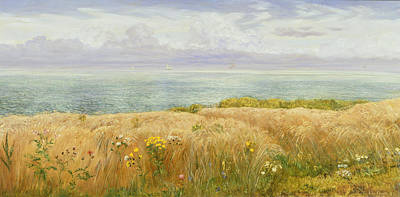 Summer On The Cliffs Print by John Brett