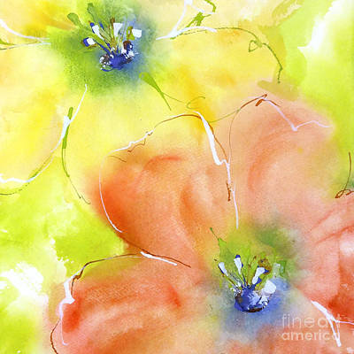 Summer Poppies 2 Print by Chris Paschke