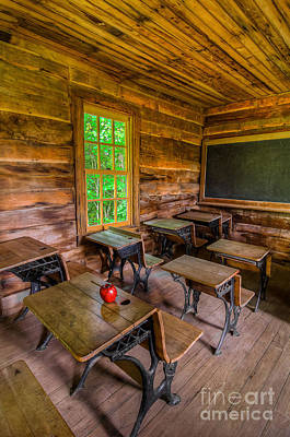 Log Cabin Photograph - Summer School by Anthony Heflin