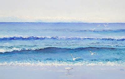 Summer Seascape Print by Jan Matson