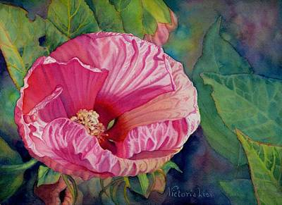 Rose Of Sharon Painting - Summer Secrets by Victoria Lisi
