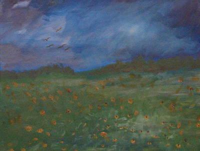 Summer Thunderstorm Painting - Summer Storm by John  Bichler