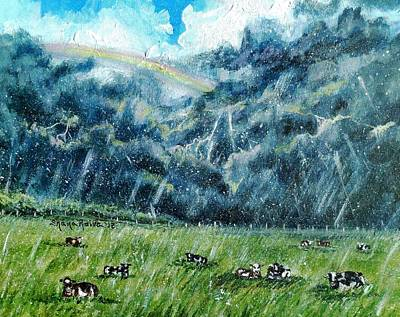 Thunder Painting - Summer Storm by Shana Rowe Jackson