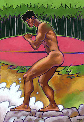 Surfboards Painting - Summer  Swell by Douglas Simonson