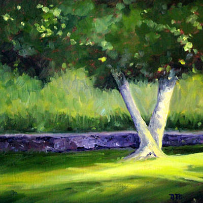 Morning Light Painting - Summer Tree by Nancy Merkle