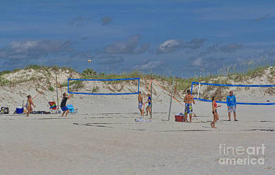 Volley Photograph - Summer Volley Ball by Deborah Benoit