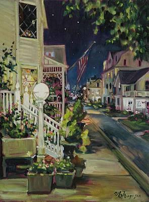 Asbury Park Painting - Summer Walk Home by MG Ferguson