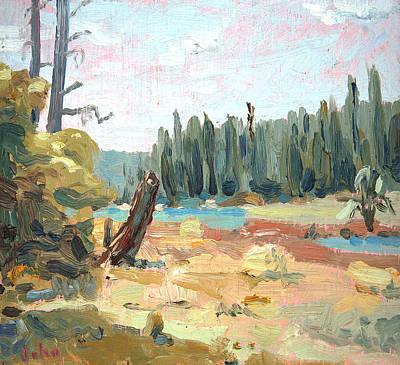 Yosemite Painting -  Bear Stump by John Matthew