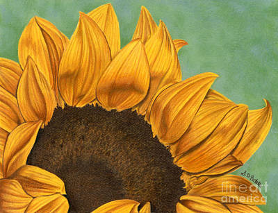 Sunflower Field Painting - Summer's End by Sarah Batalka
