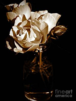 Neurotic Images Photograph - Summer's Last Blooms Sepia by Chalet Roome-Rigdon