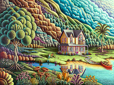 Mansions Painting - Summertime by Andy Russell