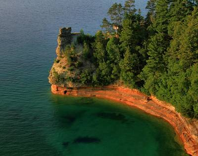 Summertime At Pictured Rocks National Lakeshore Print by Dan Sproul