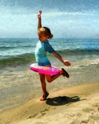 Water Play Photograph - Summertime Girl by Michelle Calkins