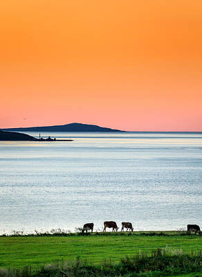 Solstice Photograph - Summertime In Iceland With The Midnight by Panoramic Images