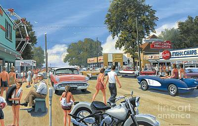 Buick Painting - Summertime by Michael Swanson