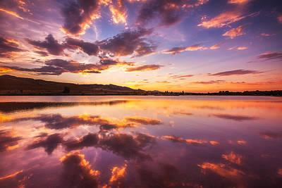 Summertime Sunset Print by Darren  White