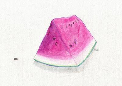 Roz Barron Abellera Painting - Summertime Watermelon by Roz Abellera Art