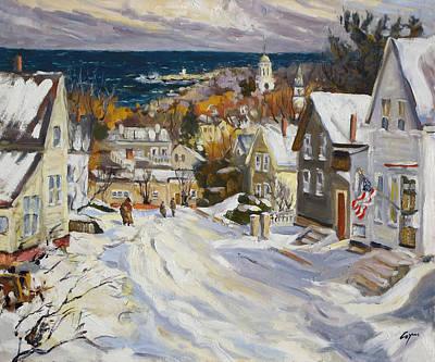 Summit Avenue In Winter Original by Chris Coyne