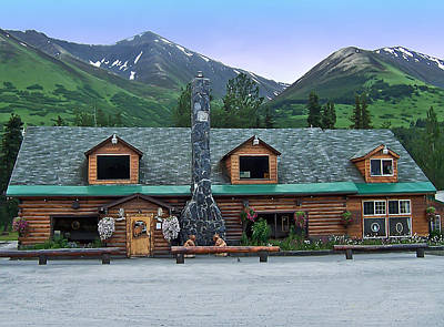 Summit Lake Lodge Alaska Print by Aimee L Maher Photography and Art Visit ALMGallerydotcom