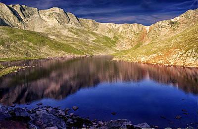 Mountain Reflection Lake Summit Mirror Photograph - Summit Reflections by Brian Kerls