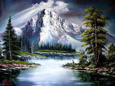 Bob Ross Painting - Sun After Rain by Shirwan Ahmed