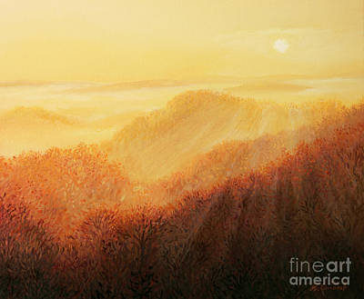 Vivid Fall Colors Painting - Sun Caress by Kiril Stanchev