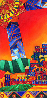 Purim Painting - Sun City by Dawnstarstudios