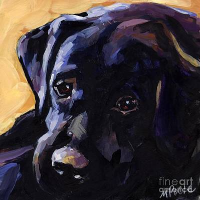 Black Labrador Puppies Painting - Sun Day by Molly Poole