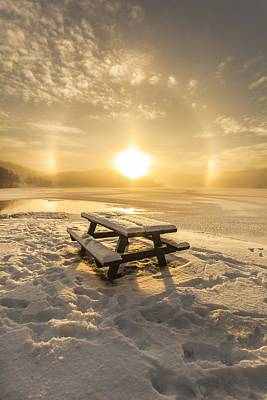 Sunset In Norway Photograph - Sun Dog by Rose-Maries Pictures