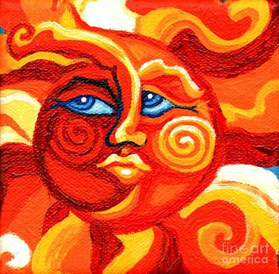 Battery Painting - Sun Face by Genevieve Esson