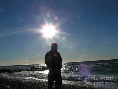 Travel Photograph - Sun Flare Sunset  by Alexandra Jordankova