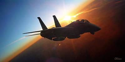 Navy Digital Art - Sun Flash by Dorian Dogaru