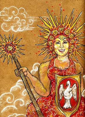 Warrior Goddess Mixed Media - Sun Goddess by Suzan  Sommers