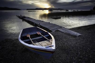 Luna Photograph - Sun Goes Down Over Lake Titicaca by Dirk Ercken